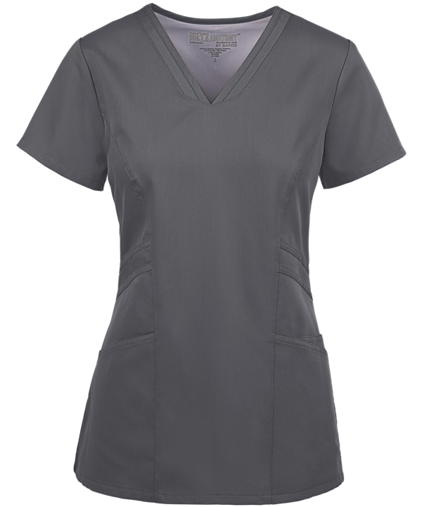 Grey's Anatomy - Women's Stylized V-Neck Scrub Top, 41452