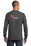 Vituity Essential Long Sleeve Tee  with Back Logo