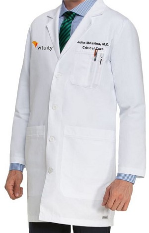 Grey's Anatomy Men's White Lab Coat - 5 Pocket