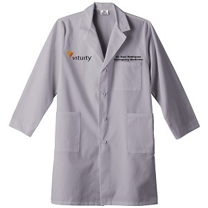 Meta Unisex Lab Coat - Gray